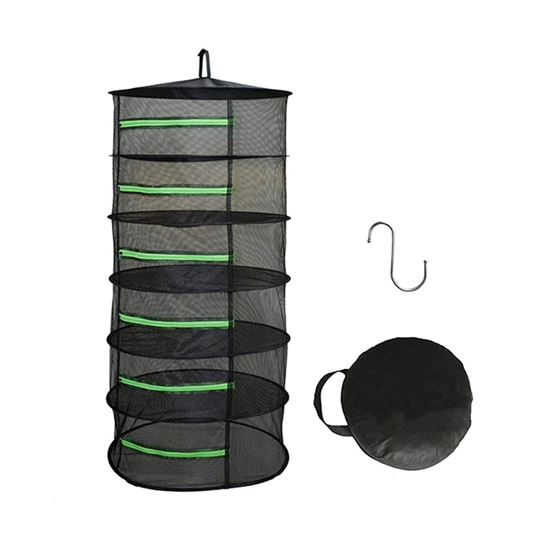 Green Zippers Hydroponics Drying Rack With Bonus Hook