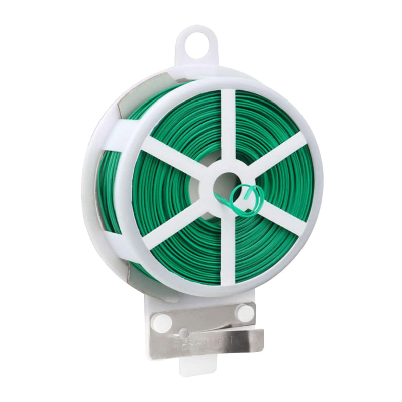 Greenhouse Reusable Plastic Plants Wire Twist Ties With Cutter